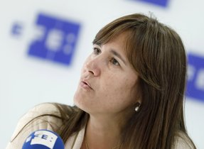 La portavoz de JxCat en el Congreso, Laura Borràs.