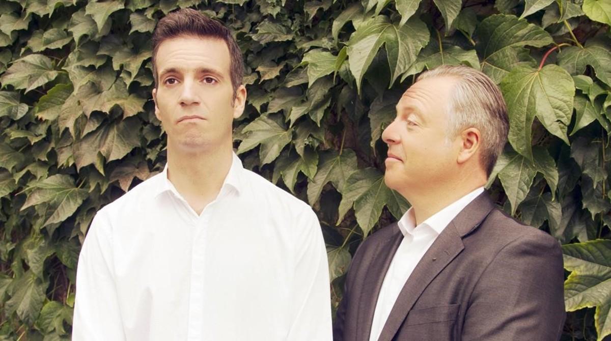 Carlos Goñi (izquierda) y Jordi Gràcia, protagonistas de Protesta.