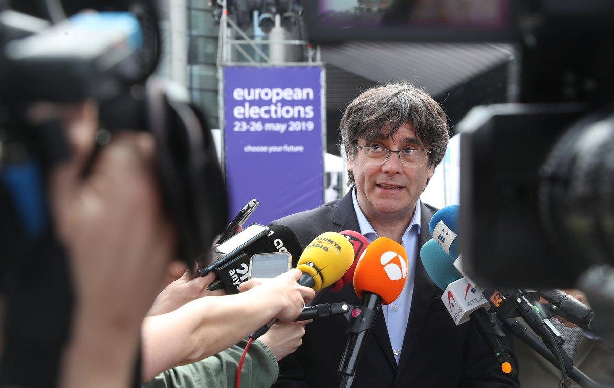 Puigdemont, el pasado 26 de mayo, en Bruselas.