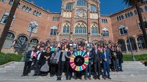 El Recinte Modernista Hospital Sant Pau acogió el acto de presentación de la Aliança Catalunya 2030.