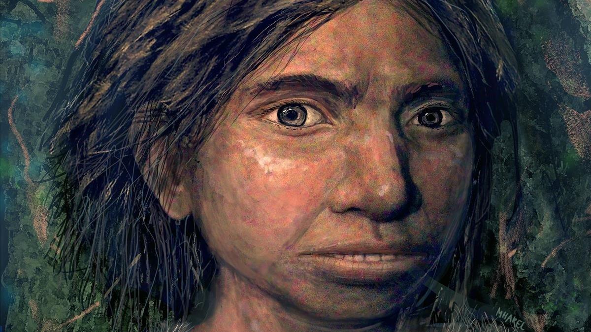 Reconstrucción de una joven denisovana.