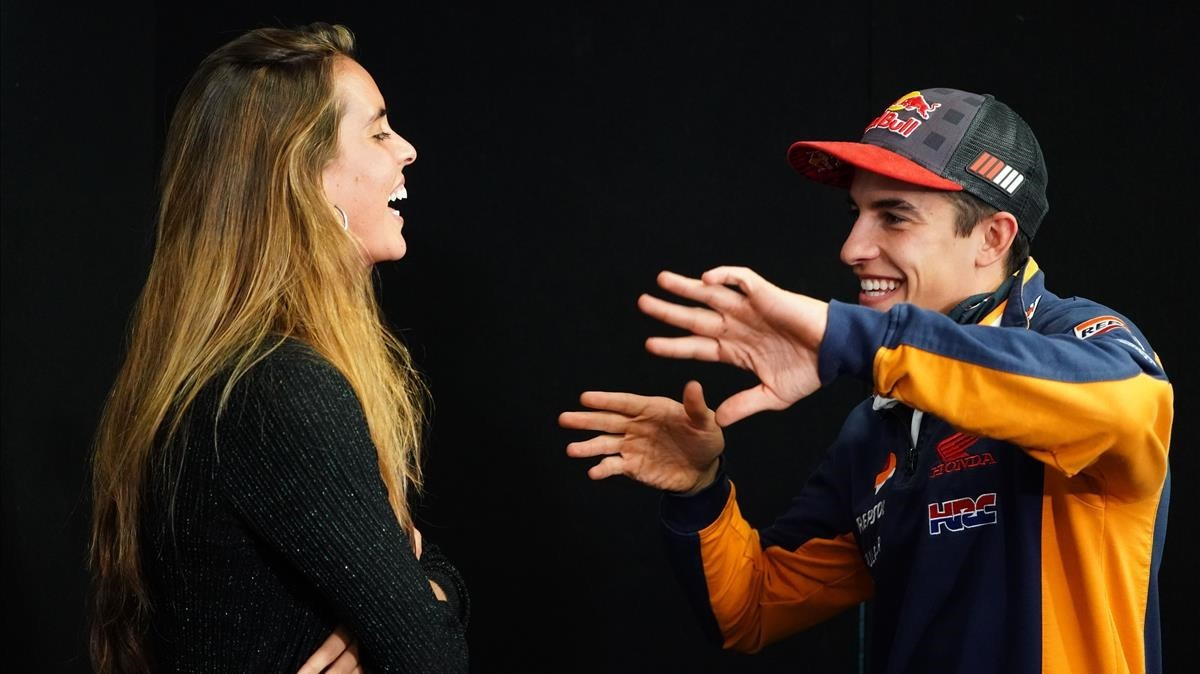 OnaCarbonell y Marc Márquez coincidieronen el circuito australiano de Phillip Island.