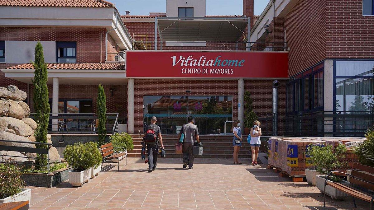 Residencia Vitalia de Griñón (Madrid), a cuyos residentes enfermos se negaron derivaciones a los hospitales en marzo pasado.