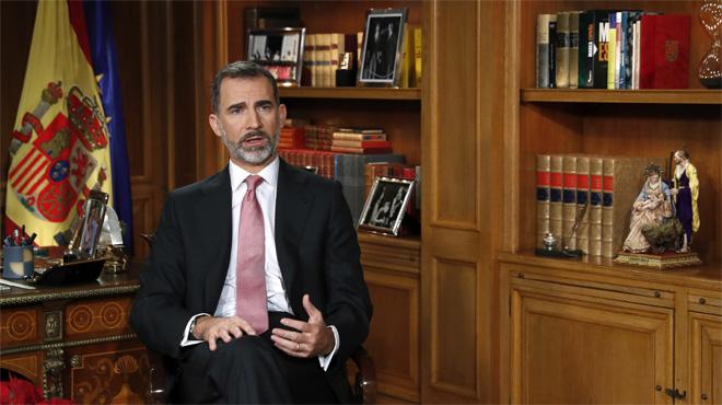 """El Rey avisa de que romper la ley solo lleva a """"enfrentamientos estériles"""""""