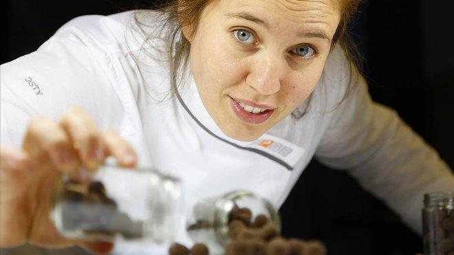 Saray Ruiz, la mejor maestra chocolatera de España del 2019 y profesora de la Escola de pastisseria del Gremi de Barcelona.