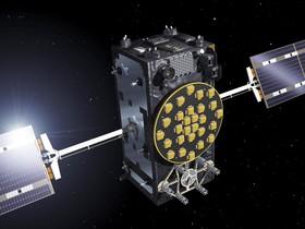 Imagen facilitada por la Agencia Espacial Europea ESA de un satélite operativos del sistema de navegación Galileo.