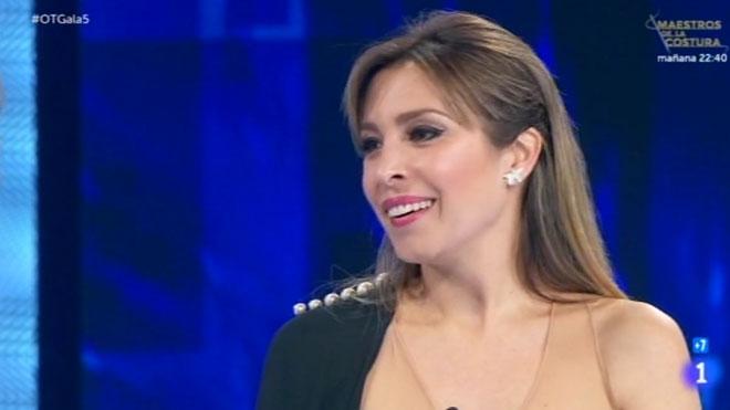 Gisela, invitada en 'Operación triunfo' (TVE-1).