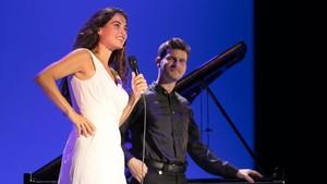 Sílvia Pérez Cruz y Marco Mezquida, durante su concierto del jueves en Peralada.