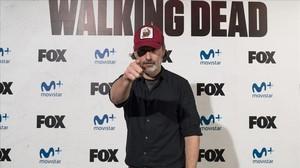 Andrew Lincoln, actor que encarna al personaje de Rick Grimes en la serie de la Fox The walking dead, en la presentación en Madrid de la conocida producción de terror.