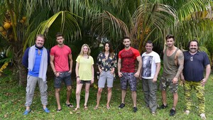 Algunos de los concursantes de 'Supervivientes 2017' que ya están en Honduras, con Bigote Arrocet a la izquierda.