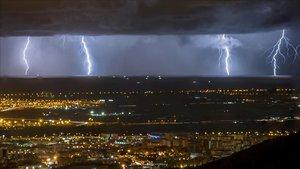 La tormenta de la pasada semana en Barcelona.