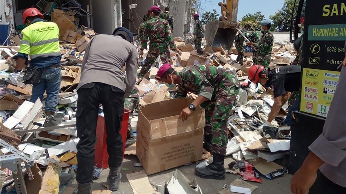 Una imagen tras el terremoto en Lombok, en Indonesia, de principios de agosto.