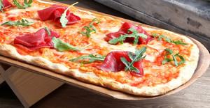 Una de las sugerentes pizzas de Marquinetti, el mejor pizzero del mundo.