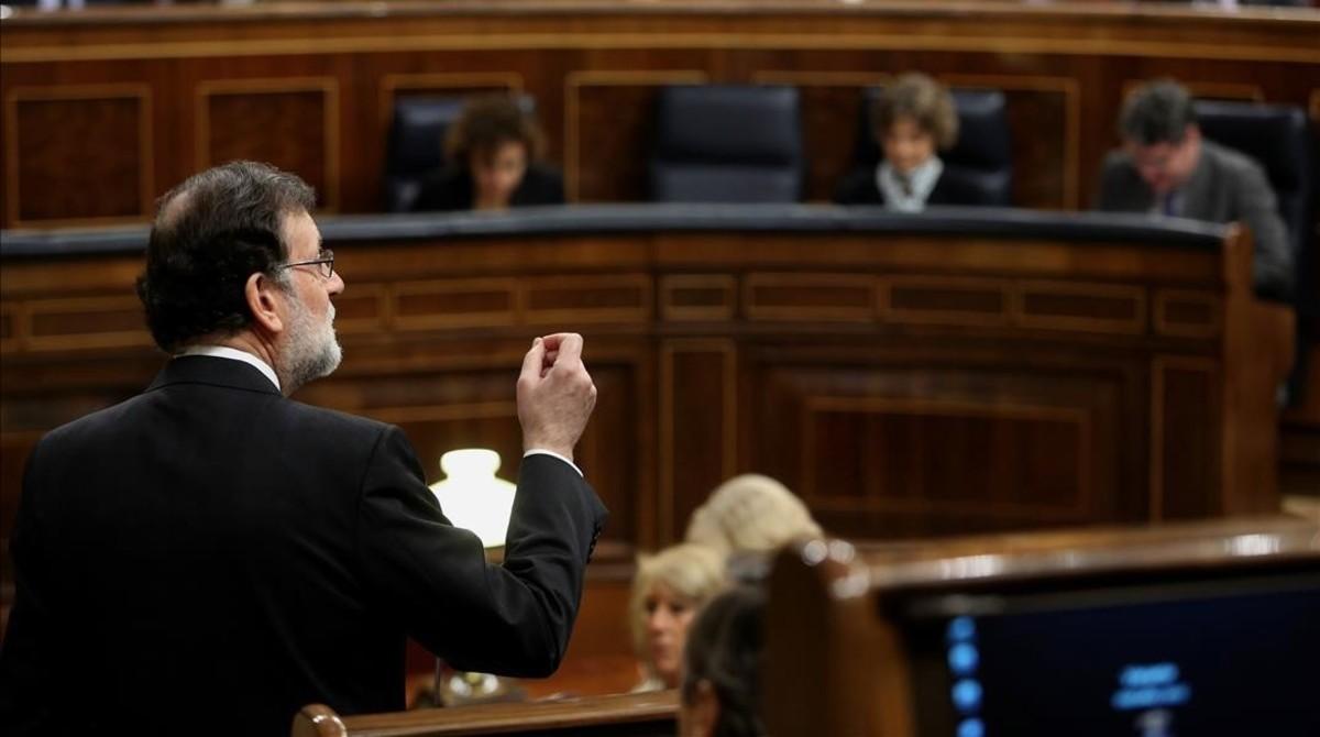 """Rajoy """"no presentarà cops d'efecte"""" en el debat sobre pensions al Congrés"""