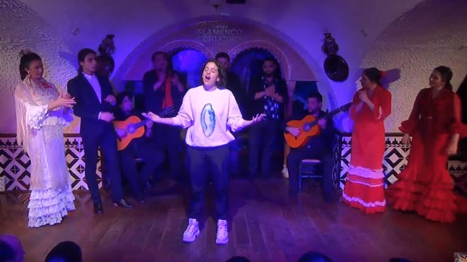 Rosalía engega 'bulerías' al Tablao Cordobés de Barcelona