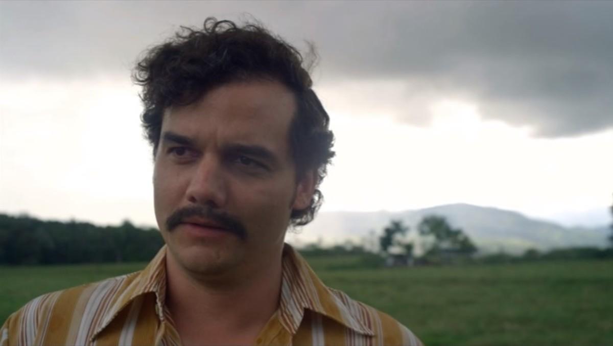 Wagner Moura, como el narcotraficante Pablo Escobar, en la serie de la plataforma Netflix 'Narcos'.