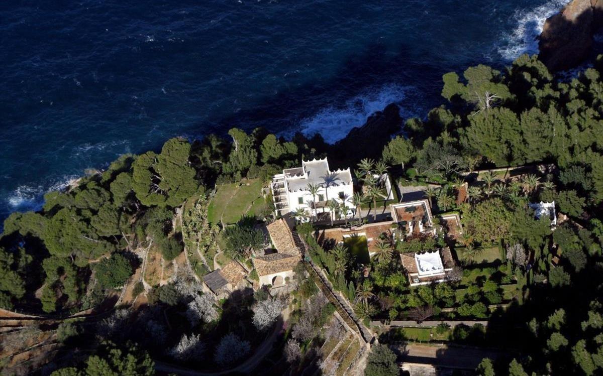 Vista aérea de la finca propiedad de Michael Douglas, en Valldemosa.