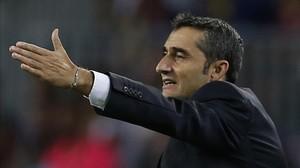 Valverde felicita el Barça per la reacció del segon temps