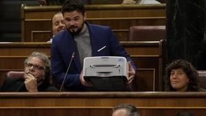 La impressora de Rufián imprimeix mems