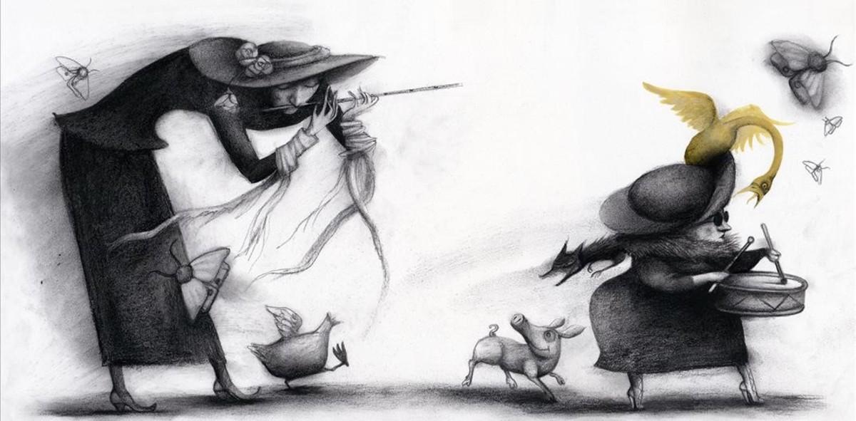 Ilustración de Ana Juan para Circus.