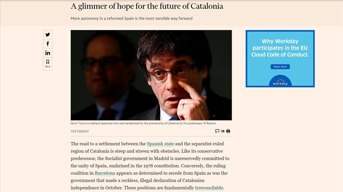 El editorial del Financial Times de este lunes.