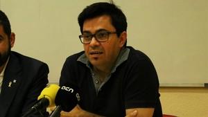 Gerardo Pisarello, en una rueda de prensa del 23 de julio.