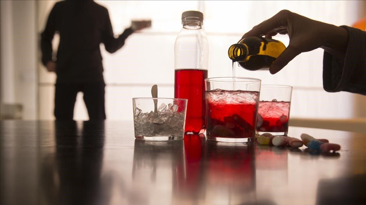 El Purple drank es una droga casera que se consigue mezclando codeína con Sprite.