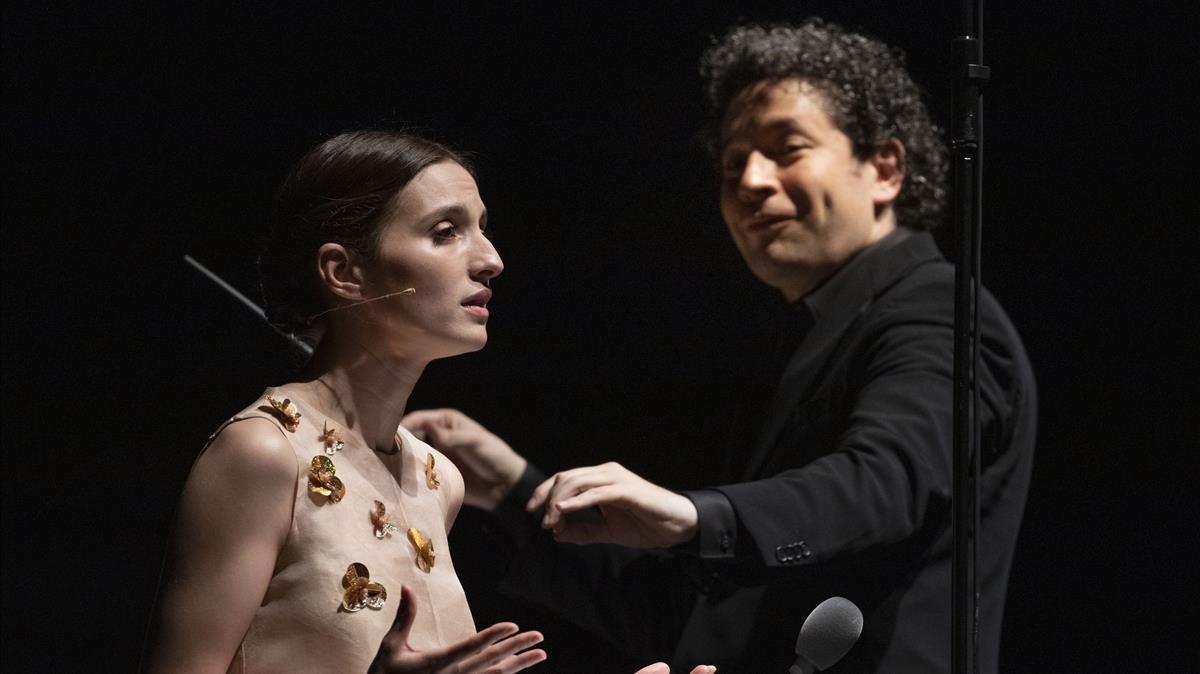 María Valverde y Gustavo Dudamel, en Peralada.