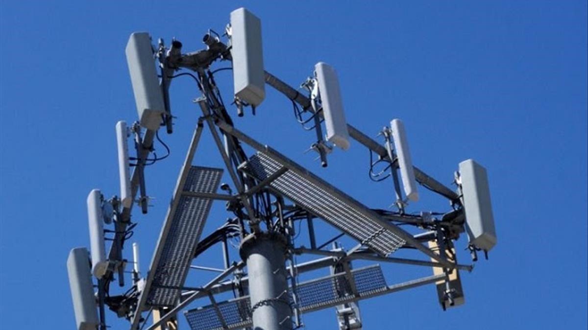 Una antena de telefonía, en Barcelona