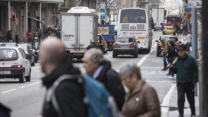 El carril bici crespa el debat de la Via Laietana