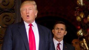 Donald Trump y Michael Flynn, en el 2016.