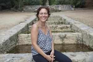 Valérie Delpierre, en esa gran reserva verde que es el parque del Guinardó, cerca de donde reside con su familia.