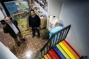En la sede 8Jordi Sans, coordinador de voluntarios de Panteres Grogues, y Toni Travieso, el presidente.