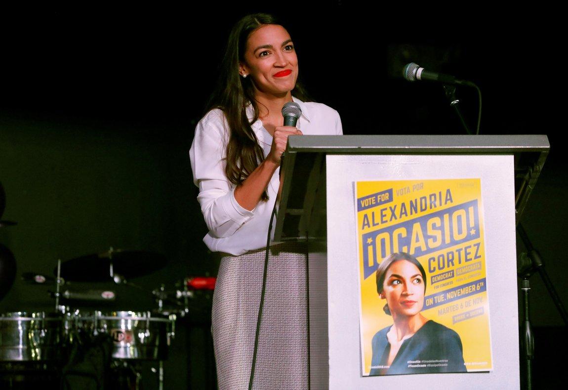 Alexandria Ocasio-Cortez.