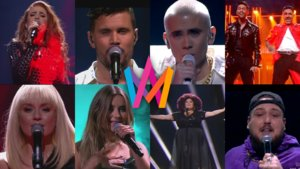 Algunos de los finalistas del Melodifestivalen 2020.