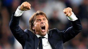 Antonio Conte celebra el triunfo del Inter sobre el Sampdoria (1-3) del pasado sábado.
