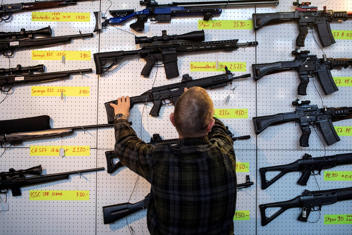 Una exhibición de armas en Lucerna, Suiza. EFE