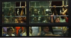 Un autobús en La Habana.