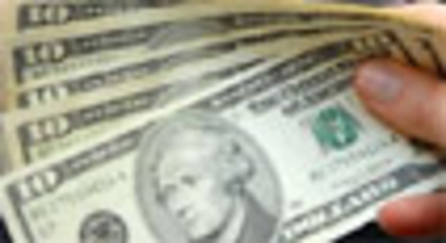 Billetes de dólar.