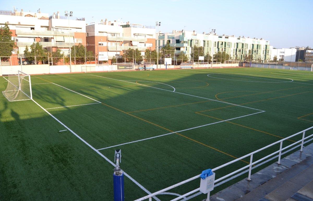 Campo de fútbol en Badalona.