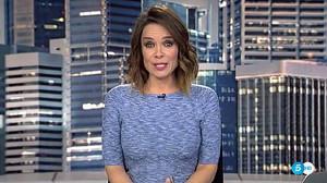 Momento en el que Carme Chaparro se despide de los telespectadores de Telecinco.