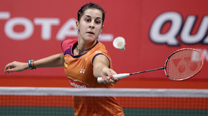 Carolina Marín, durant el partit contra la taiwanesa Yu Po Pai al Mundial de Jakarta.