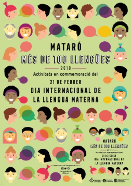 Cartel de la celebración del Día Mundial de la Lengua Materna en Mataró.