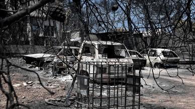 Halladas muertas las dos niñas gemelas desaparecidas en el incendio de Grecia