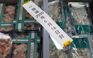 Comida importada en mercados de China.