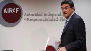 El presidente de la Airef, José Luis Escrivá, en una imagen de archivo.