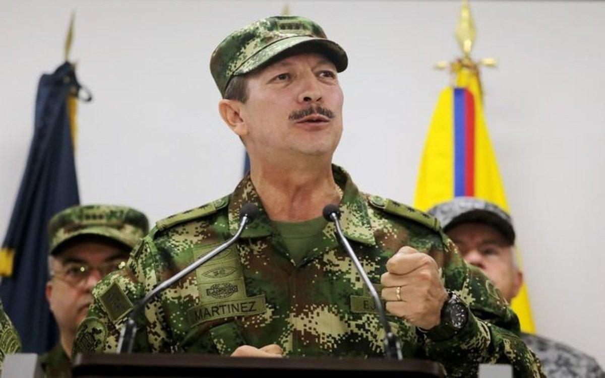 El comandante del Ejército colombiano, general Nicacio Martínez, habla sobre la publicacióindel NYT.