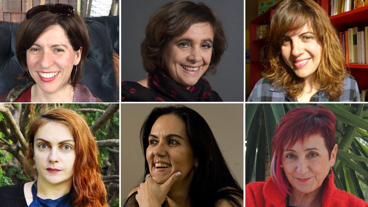 De izquierda a derecha y de arriba a abajo, Cristina Jurado, Ana María Shua, Laura Fernández, Sofía Rhei, Jacinta Escudos y Elia Barceló.