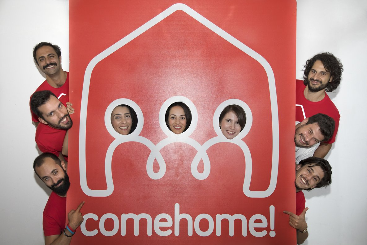 El equipo de la 'start-up' milanesa ComeHome.