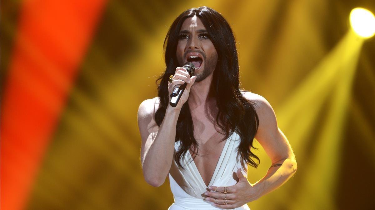 Conchita Wurst, ganadorde Eurovisión en el 2015.
